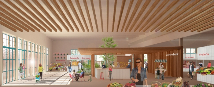 barrio + balmaseda arquitectos_Roquetas de Mar_Mercado de Abastos_interior