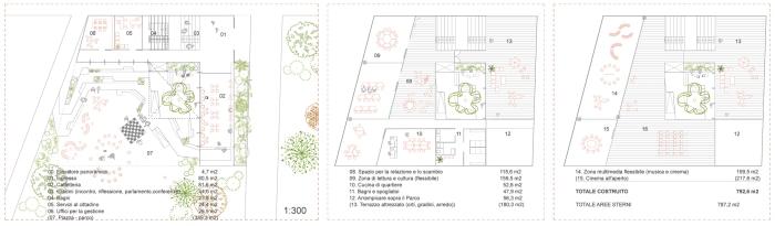 barrio + balmaseda_ centro civico milano_plantas