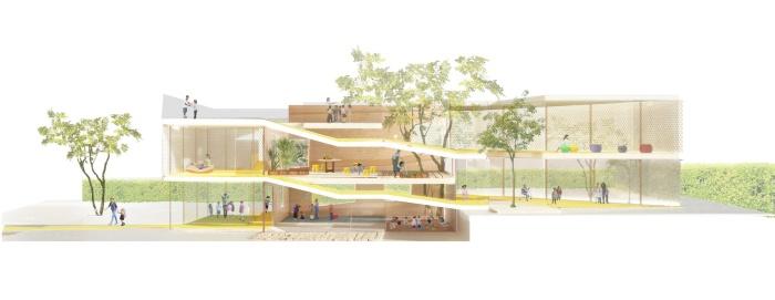 Padiglione i barrio + balmaseda arquitectos. padiglione infanzia milano