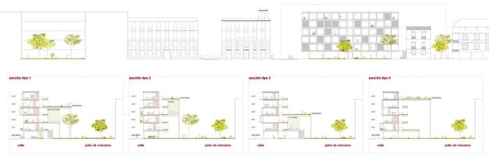 Secciones-Alzado_Barrio+Balmaseda_Solvia Bienvenido a tu casa